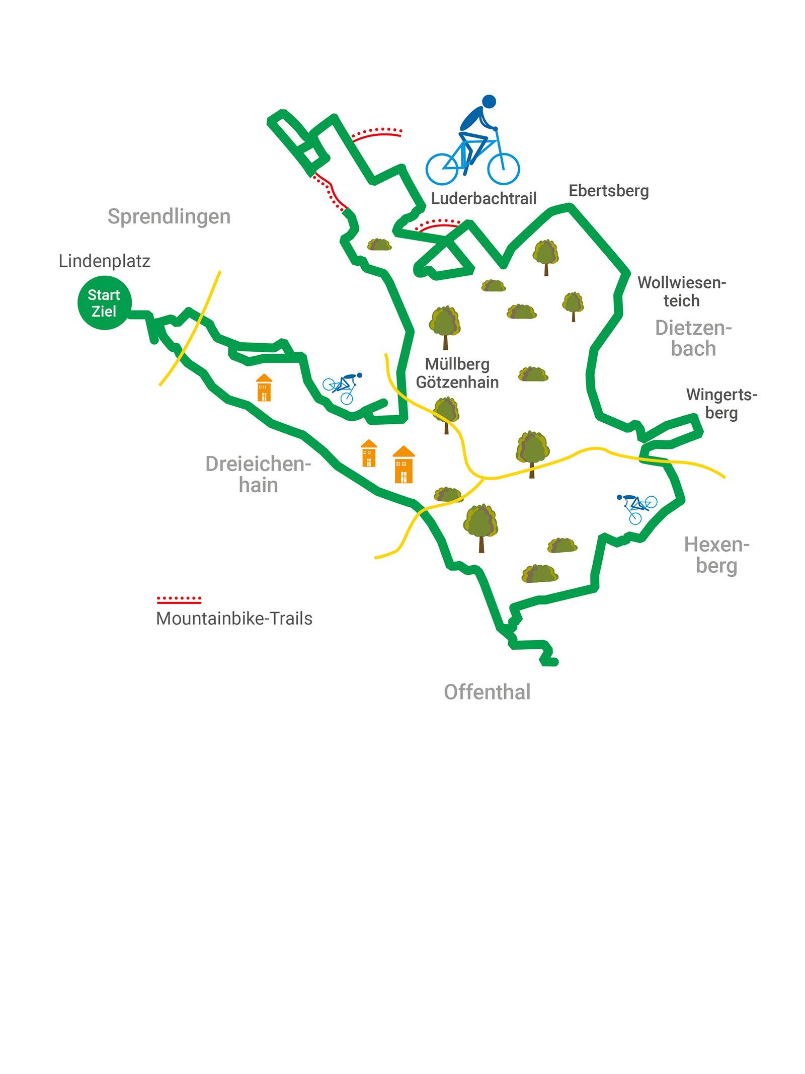 Tour 3 - Drei-Berge-Tour