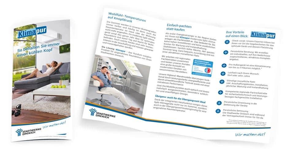 Info-Flyer Klimaanlage pachten